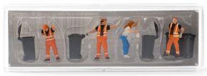 Preiser 10651 Leerung der Mülltonne Figuren Spur H0 kaufen