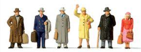 Preiser 10664 Reisende Epoche III | 6 Stück | Figuren Spur H0 kaufen