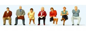 Preiser 10723 Sitzende Reisende 7 Figuren 1:87 kaufen