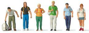 Preiser 10725 Bahnreisende mit Rucksack | 6 Miniaturfiguren | Spur H0 kaufen