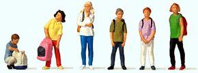 Preiser 10728 Schulkinder   6 Miniaturfiguren   Spur H0 kaufen