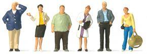 Preiser 10734 Wartende Bahnreisende | 6 Miniaturfiguren | Spur H0 kaufen