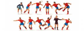 Preiser 10760 Fussballmannschaft mit rotem Trikot 12 Figuren Fertigmodell 1:87 kaufen