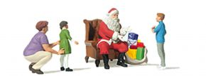 Preiser 10763 Weihnachtsmann im Sessel | 4 Stück | Figuren Spur H0