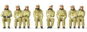 Preiser 10769 Feuerwehrmänner in moderner Einsatzkleidung | 8 Stück | Figuren Spur H0 kaufen