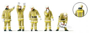 Preiser 10772 Feuerwehrmänner in moderner Einsatzkleidung | 5 Stück | Figuren Spur H0 kaufen