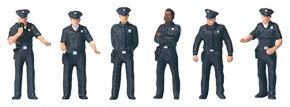 Preiser 10799 US City Police (2) | 6 Stück | Figuren Spur H0 kaufen