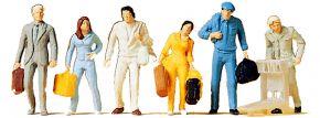 Preiser 14000 Gehende Reisende | 6 Miniaturfiguren | Spur H0 kaufen