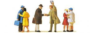 Preiser 14028 Begrüßungsszenen | 6 Miniaturfiguren | Spur H0 kaufen