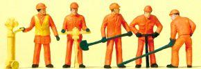 Preiser 14035 Gleisbauarbeiter | 5 Stück | Figuren Spur H0 kaufen