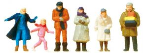 Preiser 14037 Passanten in winterlicher Kleidung | 6 Stück | Figuren Spur H0 kaufen