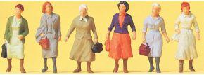 Preiser 14085 Pendlerinnen auf dem Weg zur Bahn | 6 Stück | Figuren Spur H0 kaufen