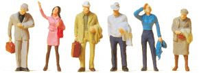 Preiser 14088 Wartende Reisende | 6 Miniaturfiguren | Spur H0 kaufen
