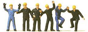 Preiser 14105 Bahnarbeiter und Rangierer | 6 Miniaturfiguren | Spur H0 kaufen