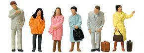 Preiser 14121 wartende Reisende | 6 Stück | Figuren Spur H0 kaufen