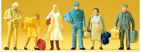 Preiser 14133 Reisende   6 Stück   Figuren Spur H0 kaufen