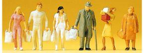 Preiser 14136 Einkaufende   6 Stück   Figuren Spur H0 kaufen