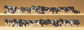 Preiser 14408 Kühe schwaz und weiß | 30 Stück Miniaturfiguren 1:87 kaufen