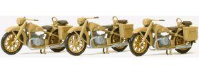 Preiser 16572 BMW R12 Motorrad Wehrmacht 3 Stk | Bausatz Spur H0 kaufen
