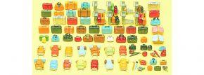 Preiser 17005 Reisegepäck 90 Teile unbemalt Bausatz 1:87 kaufen