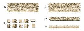 Preiser 18215 Bruchsteinmauer beidseitig strukturierte Mauerteile je 10 Teile im Maßstab 1:87 kaufen