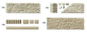 Preiser 18219 Gehweg und Bruchsteinmauer Bausatz 1:87 kaufen