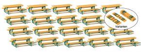 Preiser 24707 Biertischgarnituren 20 Stück  Bausatz Spur H0 kaufen
