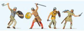 Preiser 24762 Kämpfende Ritter   4 Stück   Figuren Spur H0 kaufen