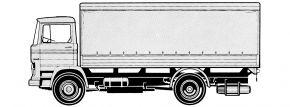 Preiser 31320 Lastkraftwagen Mercedes-Benz   LKW-Bausatz Spur H0 kaufen