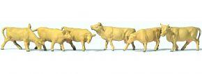 Preiser 79229 hellbraune Kühe 6 Stk | Figuren Spur N kaufen