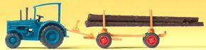 Preiser 79504 Hanomag-Schlepper mit Langholzanhänger | Modell Spur N kaufen