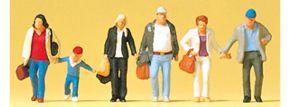 Preiser 88548 gehende Reisende | 6 Stück | Figuren Spur Z kaufen