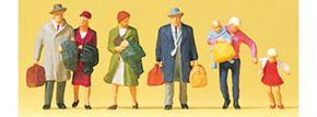 Preiser 88549 gehende Reisende | 6 Stück | Figuren Spur Z kaufen