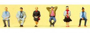 Preiser 88558 sitzende Reisende | 6 Stück | Figuren Spur Z kaufen