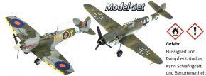 Revell 63710 Messerschmitt Bf109 und Spitfire MkV Model-Set | Flugzeug Bausatz 1:72 kaufen