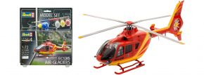 Revell 64986 Airbus Helicopters EC 135 Air Glaciers Model Set | Hubschrauber Bausatz 1:72