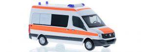 RIETZE 53108 VW Crafter Halbbus 2011 Ärztlicher Dienst Polizei Berlin Blaulichtmodell 1:87 kaufen