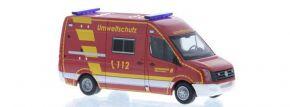 RIETZE 53120 VW Crafter Transporter 2011 Berufsfeuerwehr Wuppertal Umweltschutz Blaulichtmodell 1:87 kaufen