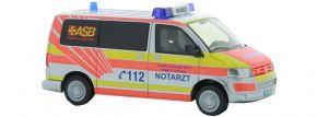 RIETZE 53403 VW T5 2010 Notarzt ASB Karlsruhe Blaulichtmodell 1:87 kaufen