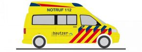 RIETZE 53438 VW T5 Ambulanz Hornis Silver Rettungsdienst Radeberg Blaulichtmodell 1:87 kaufen