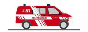 RIETZE 53450 VW T5 Halbbus 2010 Feuerwehr Ettlingen Blaulichtmodell 1:87 kaufen