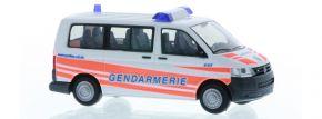 RIETZE 53452 VW T5 Bus 2010 Gendarmerie Blaulichtmodell 1:87 kaufen