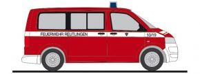 RIETZE 53646 VW T5 Bus 2010 Feuerwehr Reutlingen Blaulichtmodell 1:87 kaufen