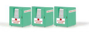 RIETZE 70259 Altkleidercontainer 3 Stück | Miniatur-Container 1:87