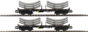 Rivarossi HR6269 2-teiliges Set Flachwagen Rmms | DB | Tübbings | Spur H0 kaufen