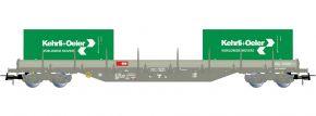 Rivarossi HR6498 Containerwagen Res Kehrli+Oeler SBB   DC   Spur H0 kaufen