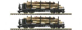 Roco 34582 2-tlg. Set Rungenwagen mit Rundholzbeladung ÖBB | DC | Spur H0e kaufen