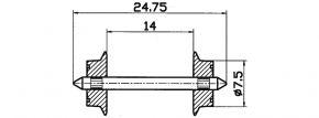 Roco 40184 Radsatz | Wechselstrom | 7,5mm 2 Stk. Spur H0 kaufen
