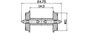 Roco 40192 Radsatz DC 11mm 2 Stk. Spur H0 kaufen