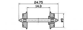 Roco 40194 Radsatz, einseitig isoliert DC 9mm 2 Stk. Spur H0 kaufen